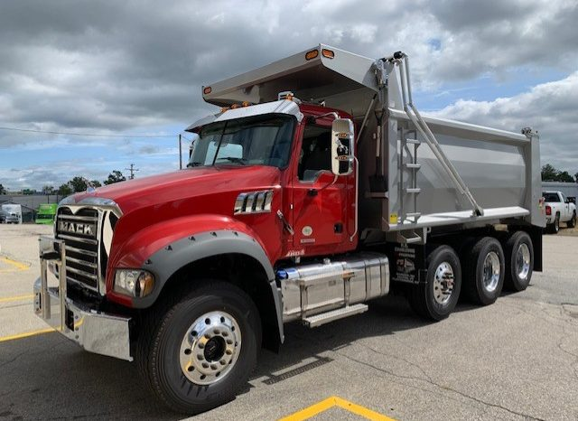 Red 2020 Mack Granite with dump body